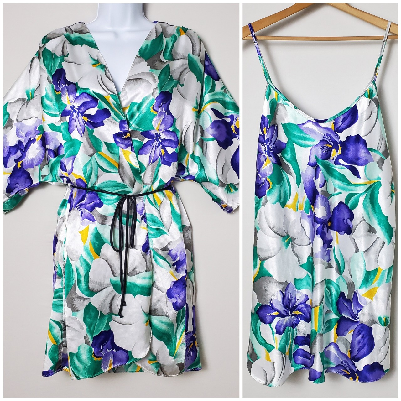 Product Image 1 - Vintage floral silky robe &