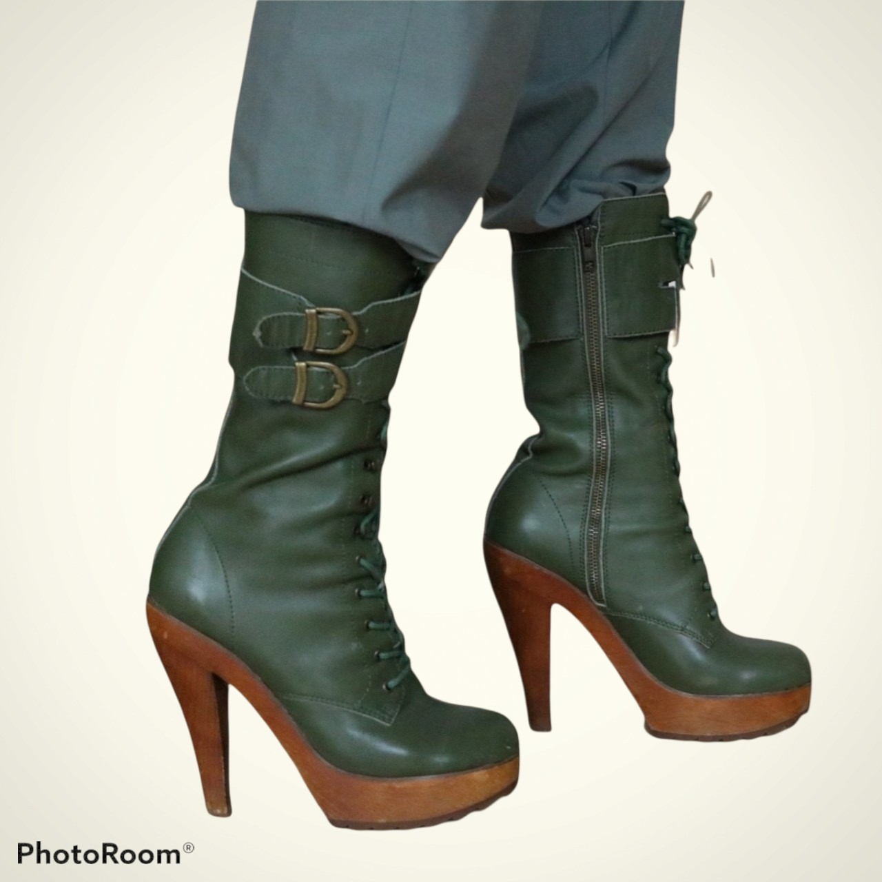 """Product Image 1 - Jeffrey Campbell """"Shaw"""" boots Leather with"""