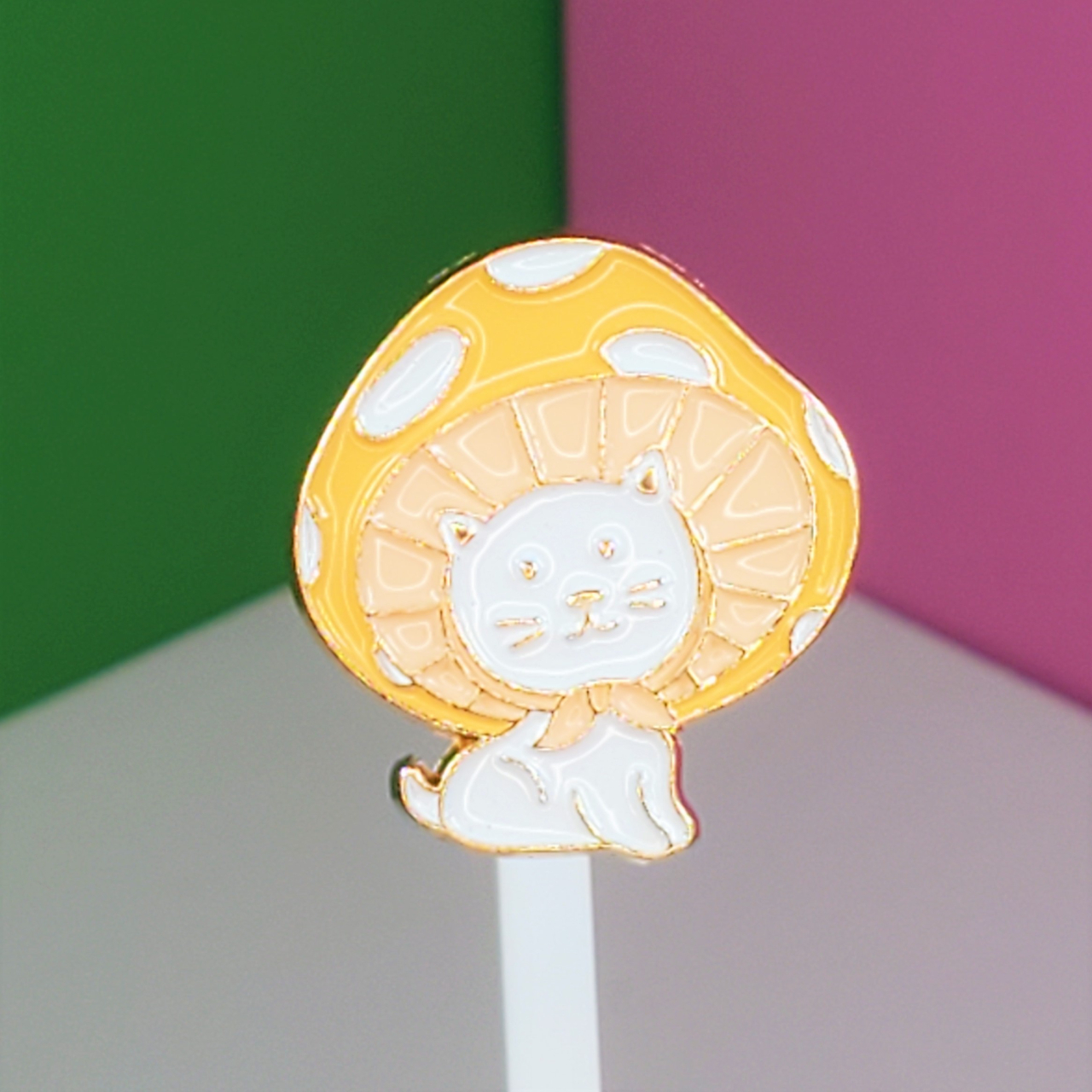 Product Image 1 - Cute Cat with Yellow Mushroom