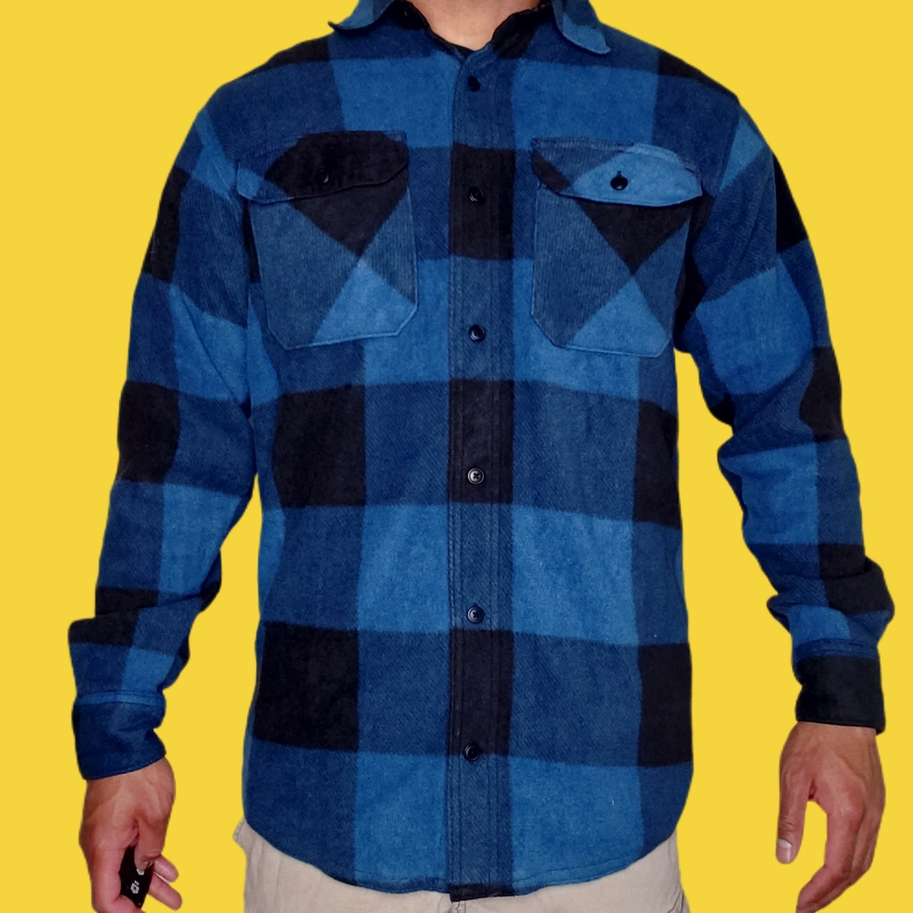 Product Image 1 - Vintage blue plaid flannel by
