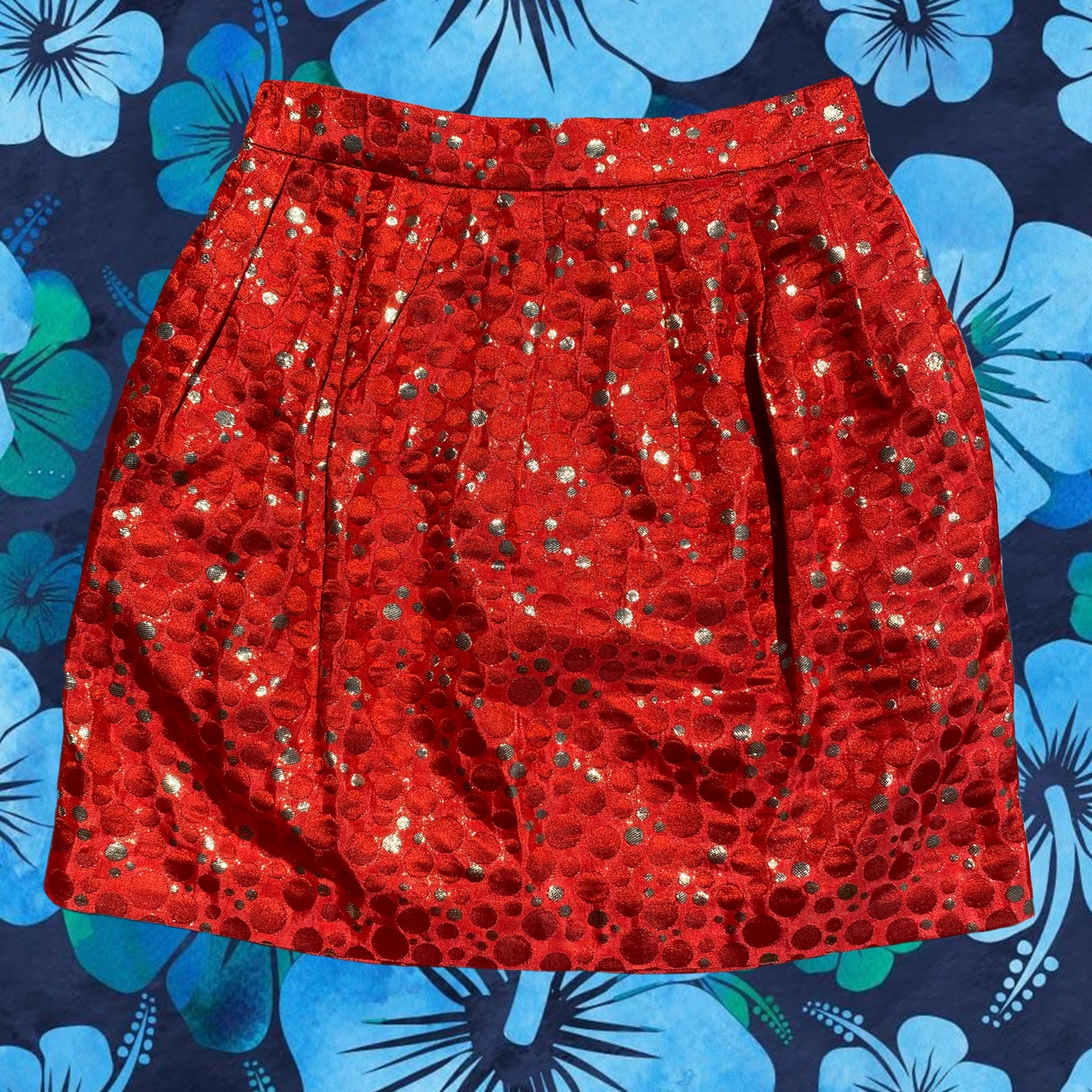 Product Image 1 - #laurenmoffatt red and gold skirt.