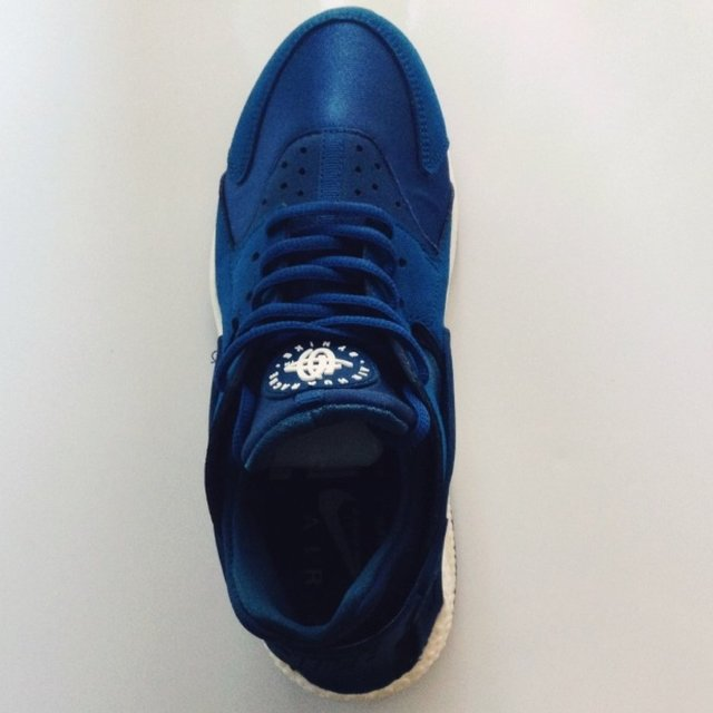 Nike Huarache Blue And Cream