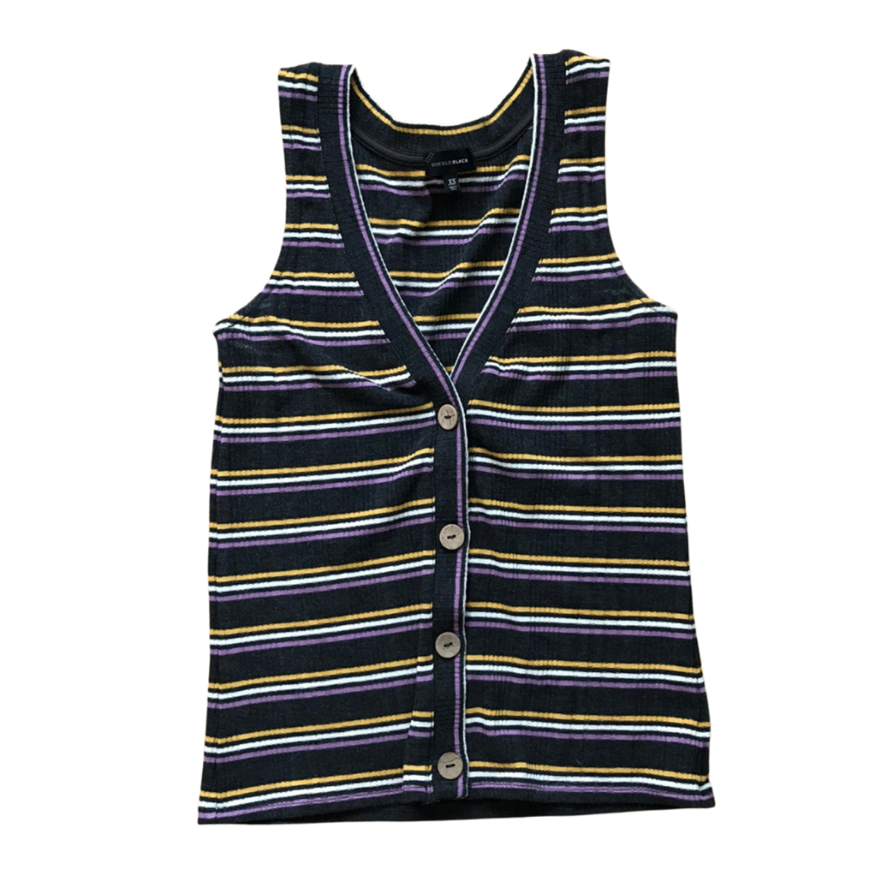 Product Image 1 - Buckle Black Striped Sleeveless Knit