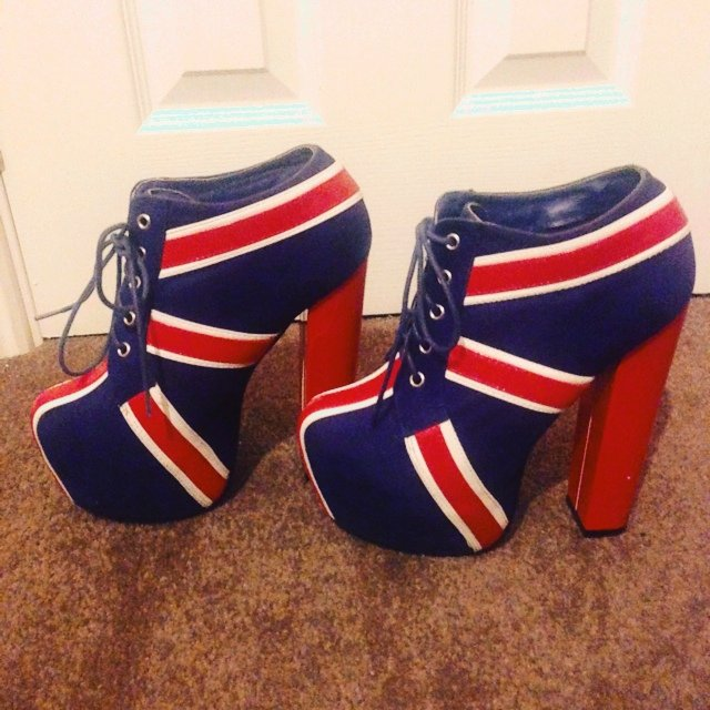 Union Jack Shoes Heels