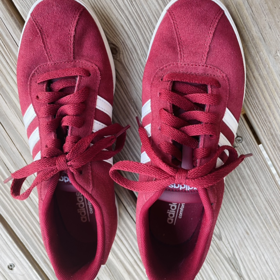 Product Image 1 - Adidas red sneakers. Women's size