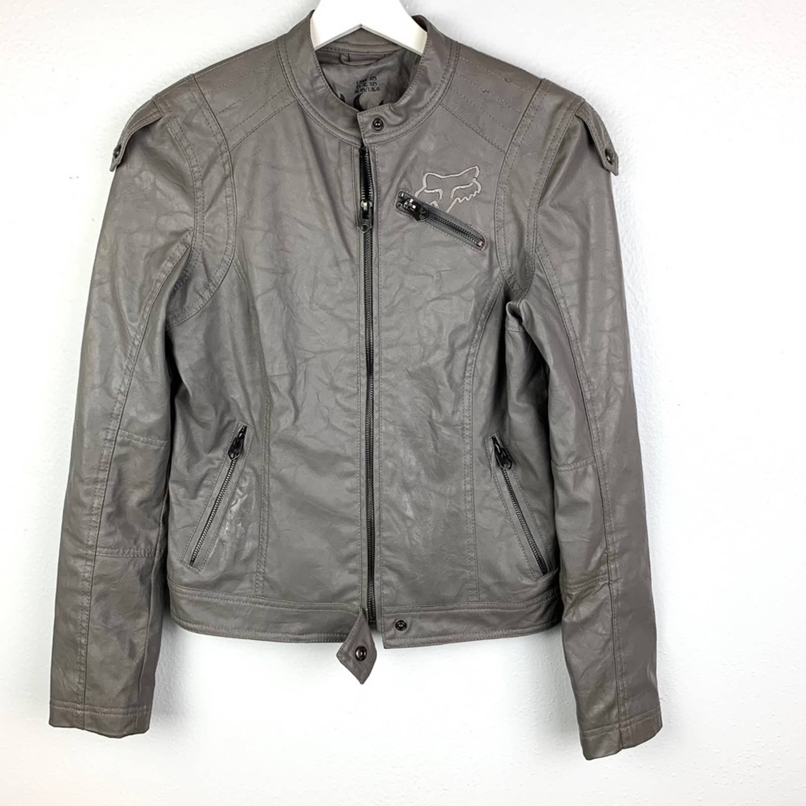 Product Image 1 - Faux leather Fox racing jacket.