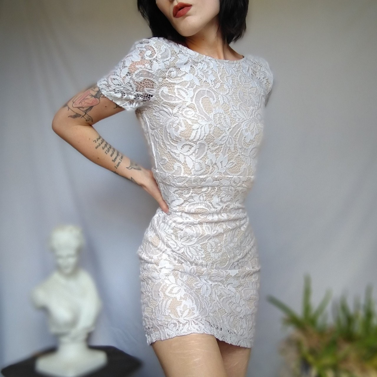 Product Image 1 - Stunning, chic white lace bodycon