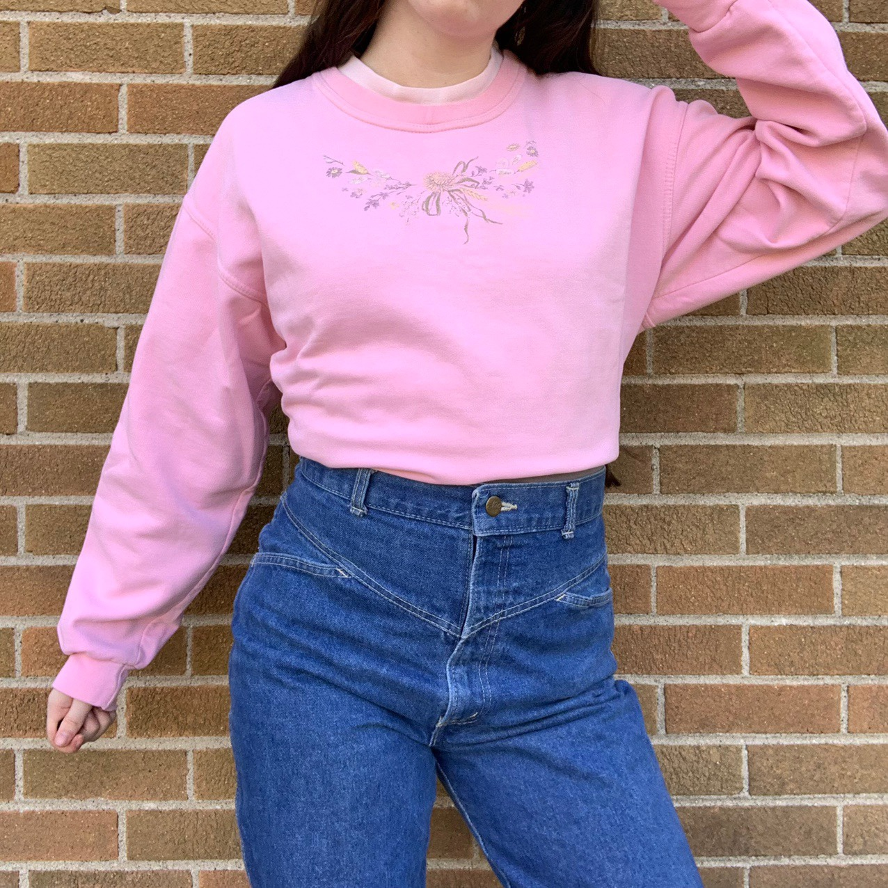 Product Image 1 - Vintage 90s embroidered floral Collar