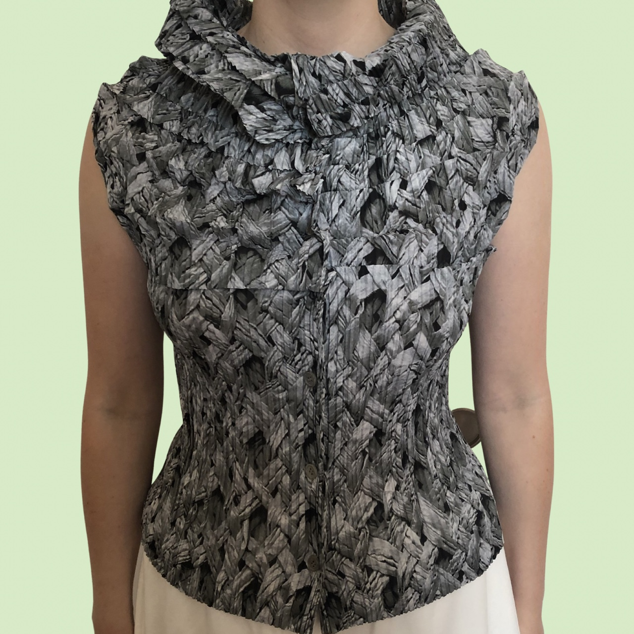 Product Image 1 - ISSEY MIYAKE layered pleated button