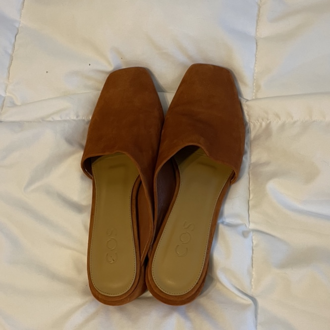 Product Image 1 - COS suede, asymmetric mules, burnt
