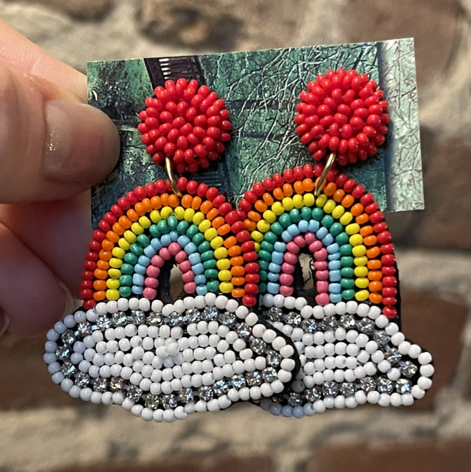 Product Image 1 - RAINBOW SPARKLE EARRINGS  1.5 inch