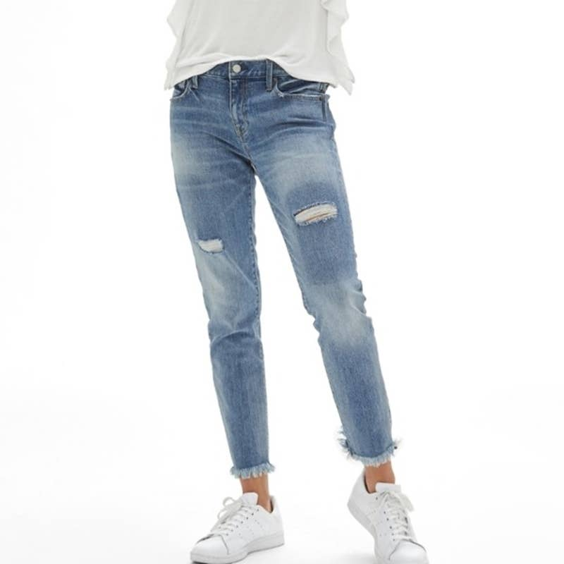 Product Image 1 - Gap Patch Distressed Cropped Girlfriend