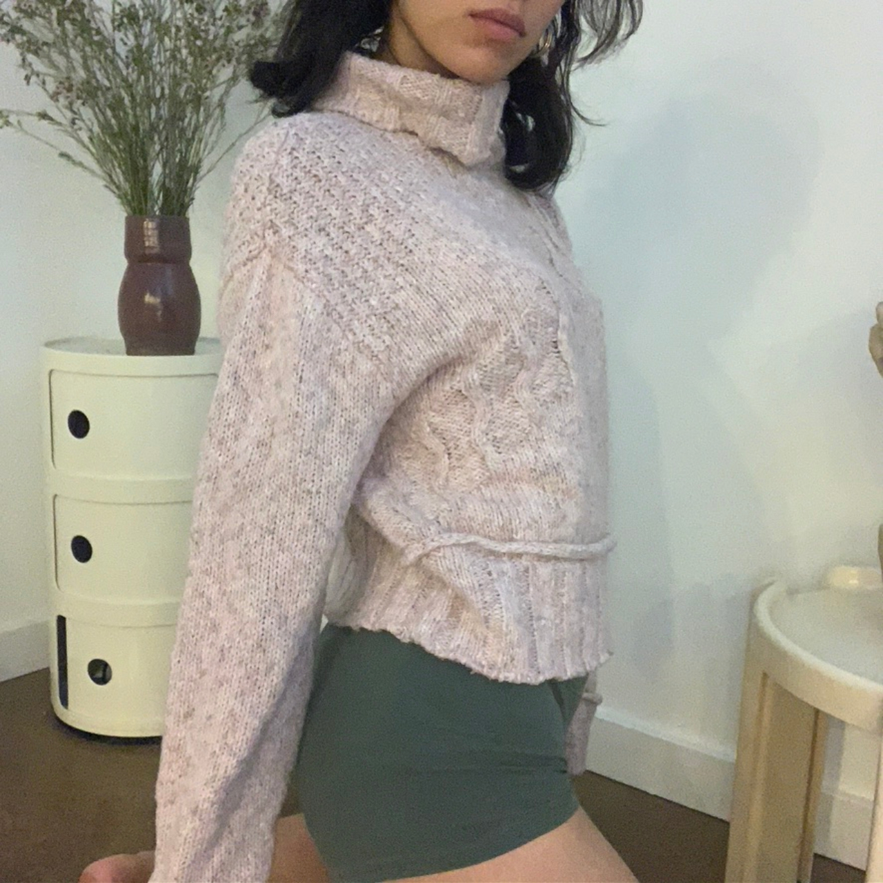Product Image 1 - inexclsvknitwear Cropped Pink Turtleneck  It's cozy