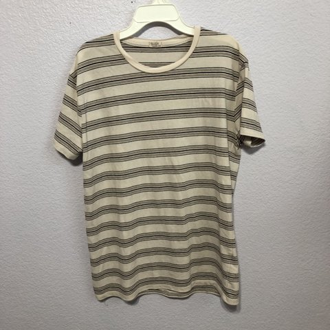 7b4222c8a1 @nadiaxlee. in 20 hours. United States. Brandy Melville Tee Shirt - pale  pink w/ stripes - soft ...