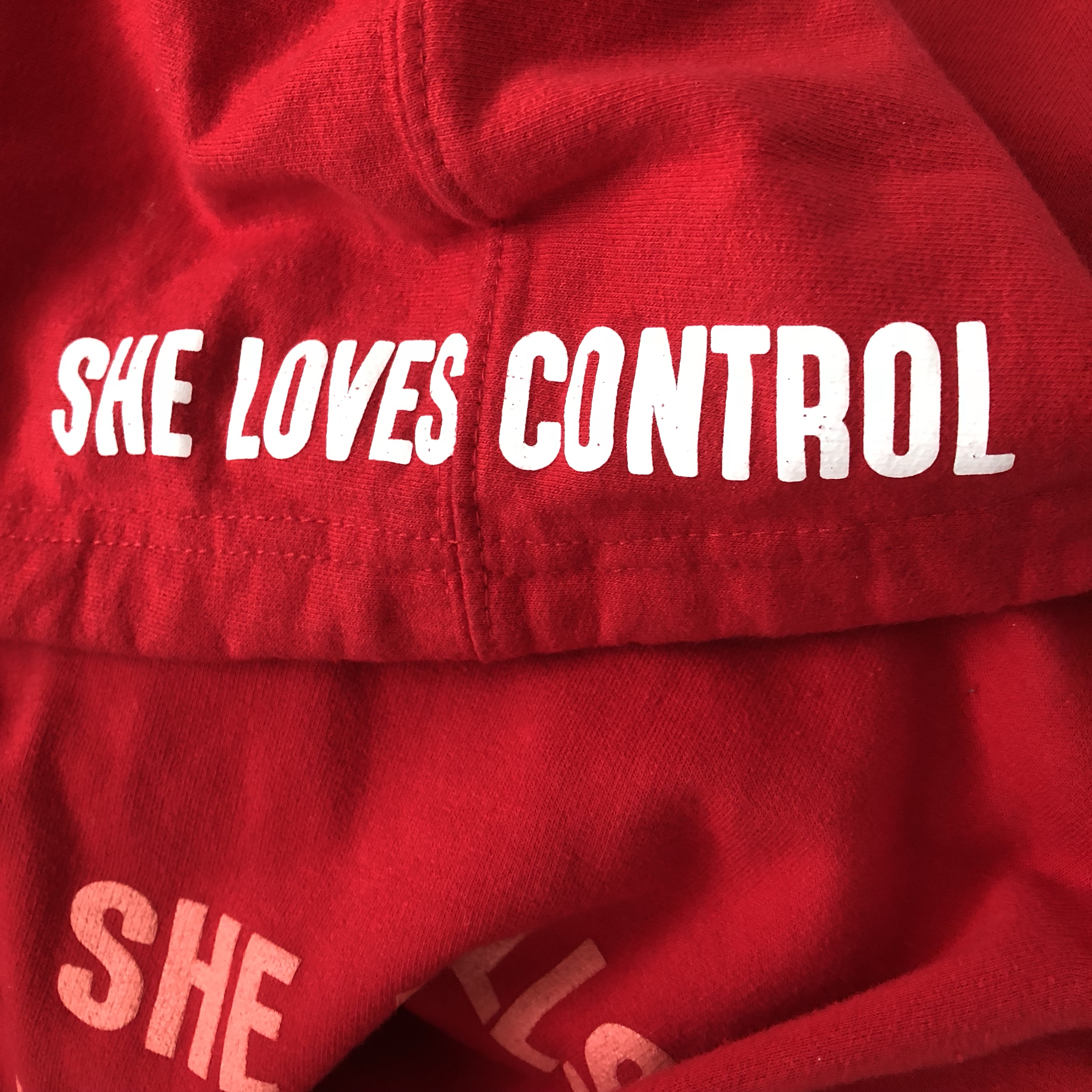 She Loves Control Red Hoodie From Camila Cabello Depop