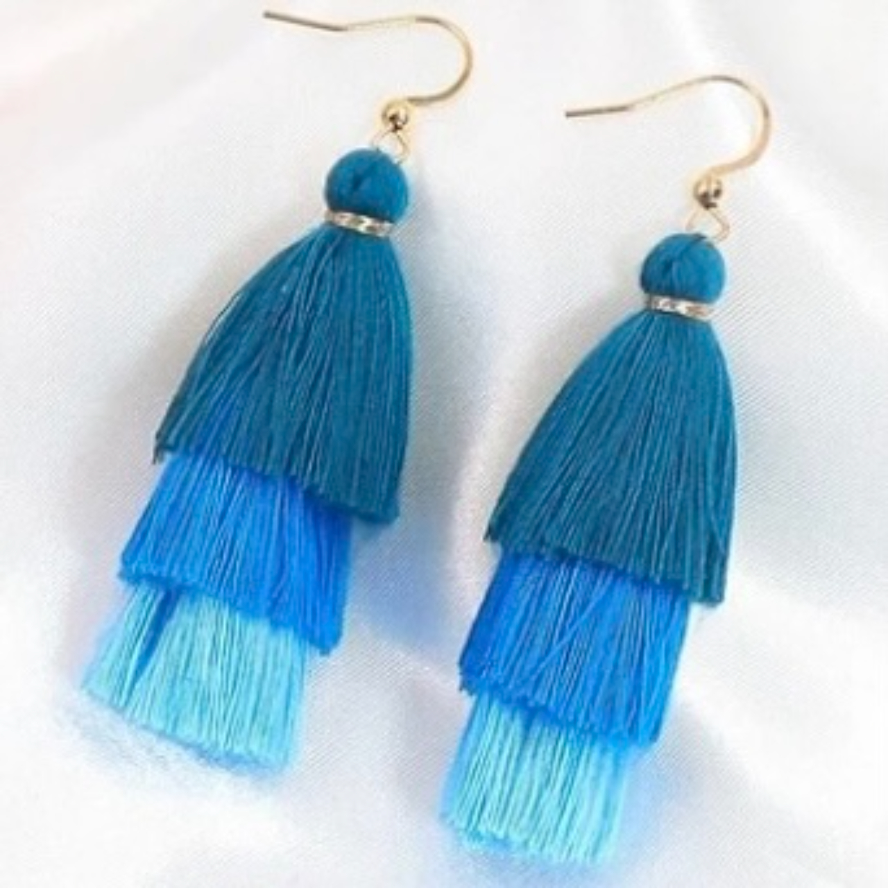 Product Image 1 - Adorable tiered tassel earrings  Available in