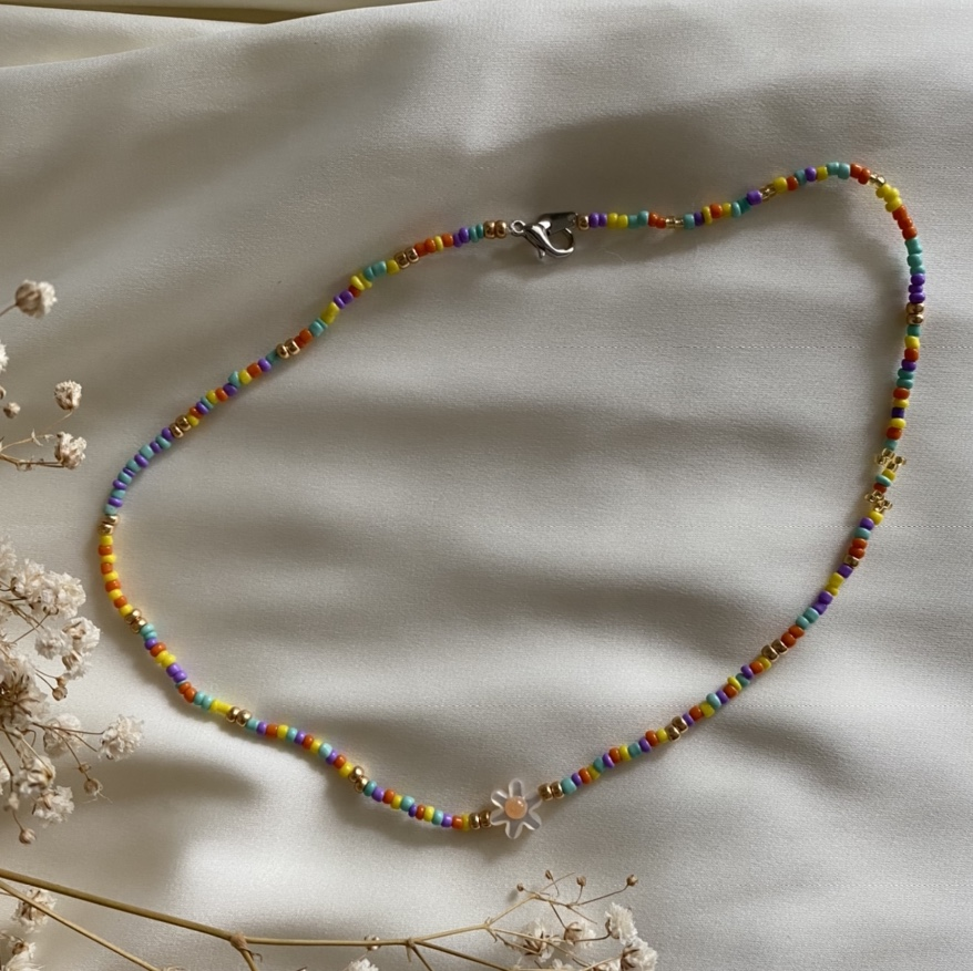Product Image 1 - Handmade daisy charmed, multi-colored beaded
