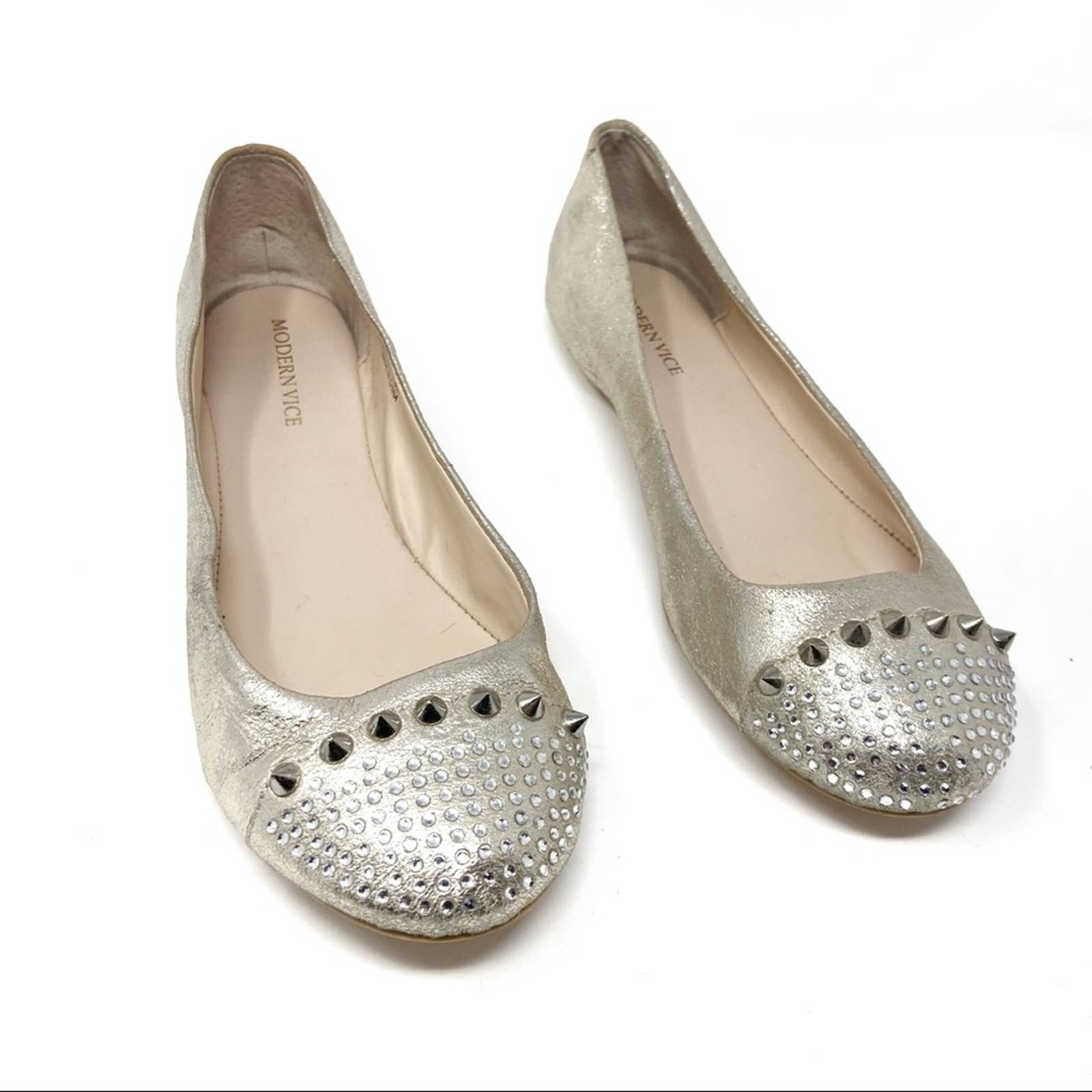 Product Image 1 - Maylee gold studded leather flats