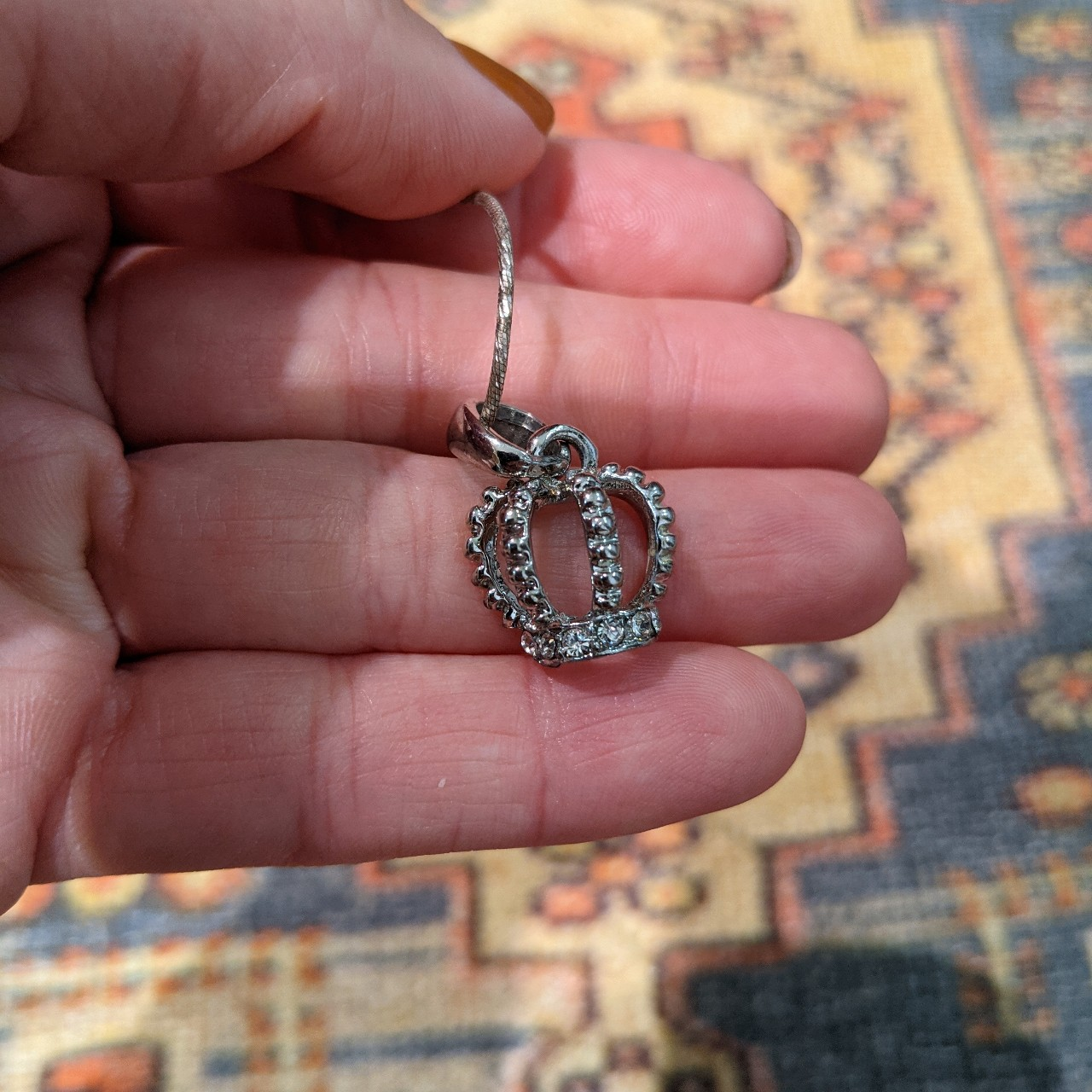 Product Image 1 - Little silver crown necklace 👑