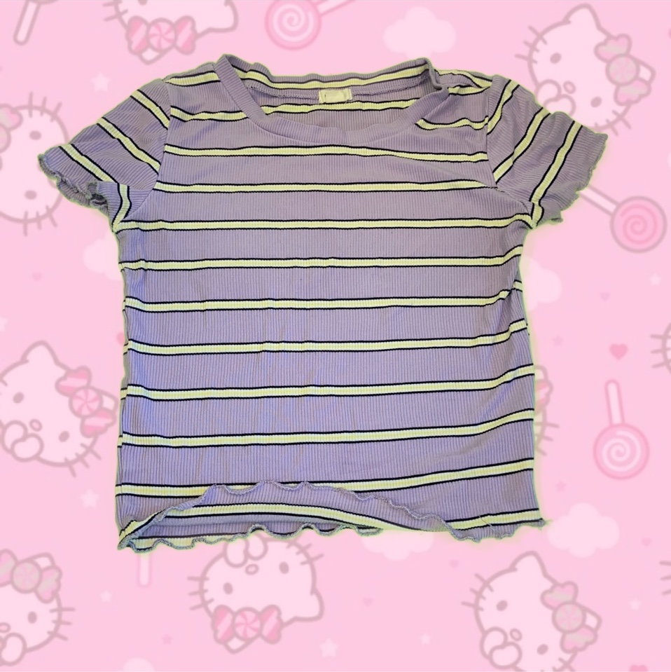 Product Image 1 - cute stripe tee with lettuce