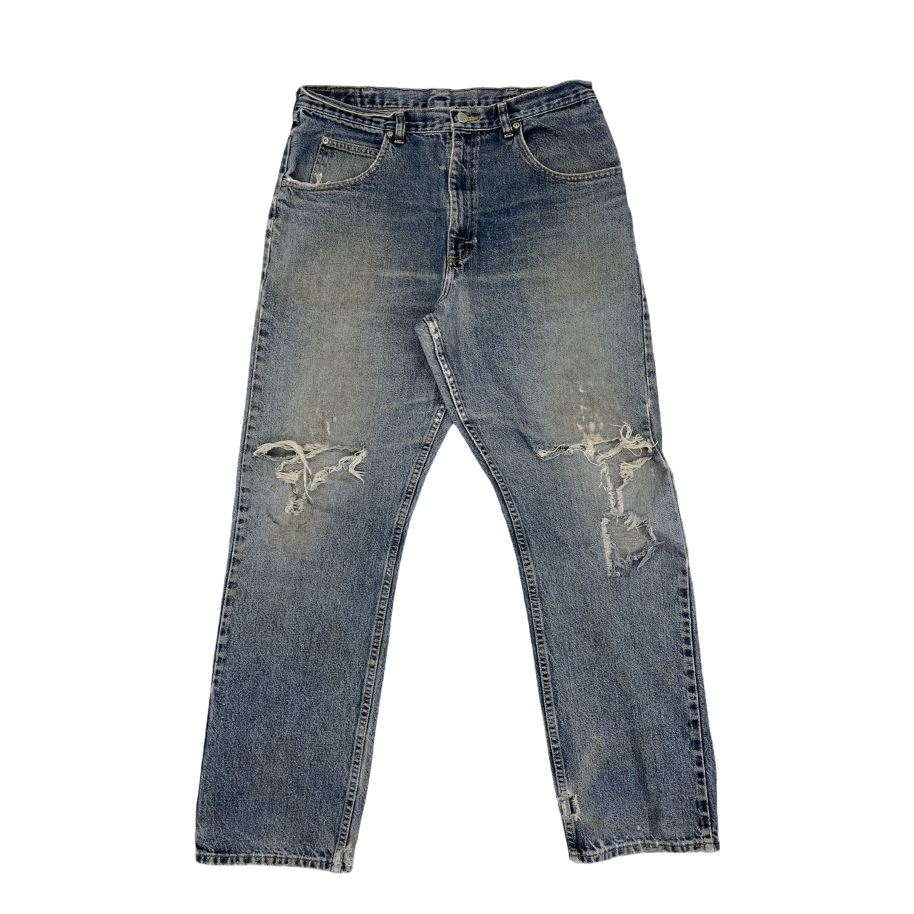 Product Image 1 - 1990s Mens Distressed Wrangler Silver