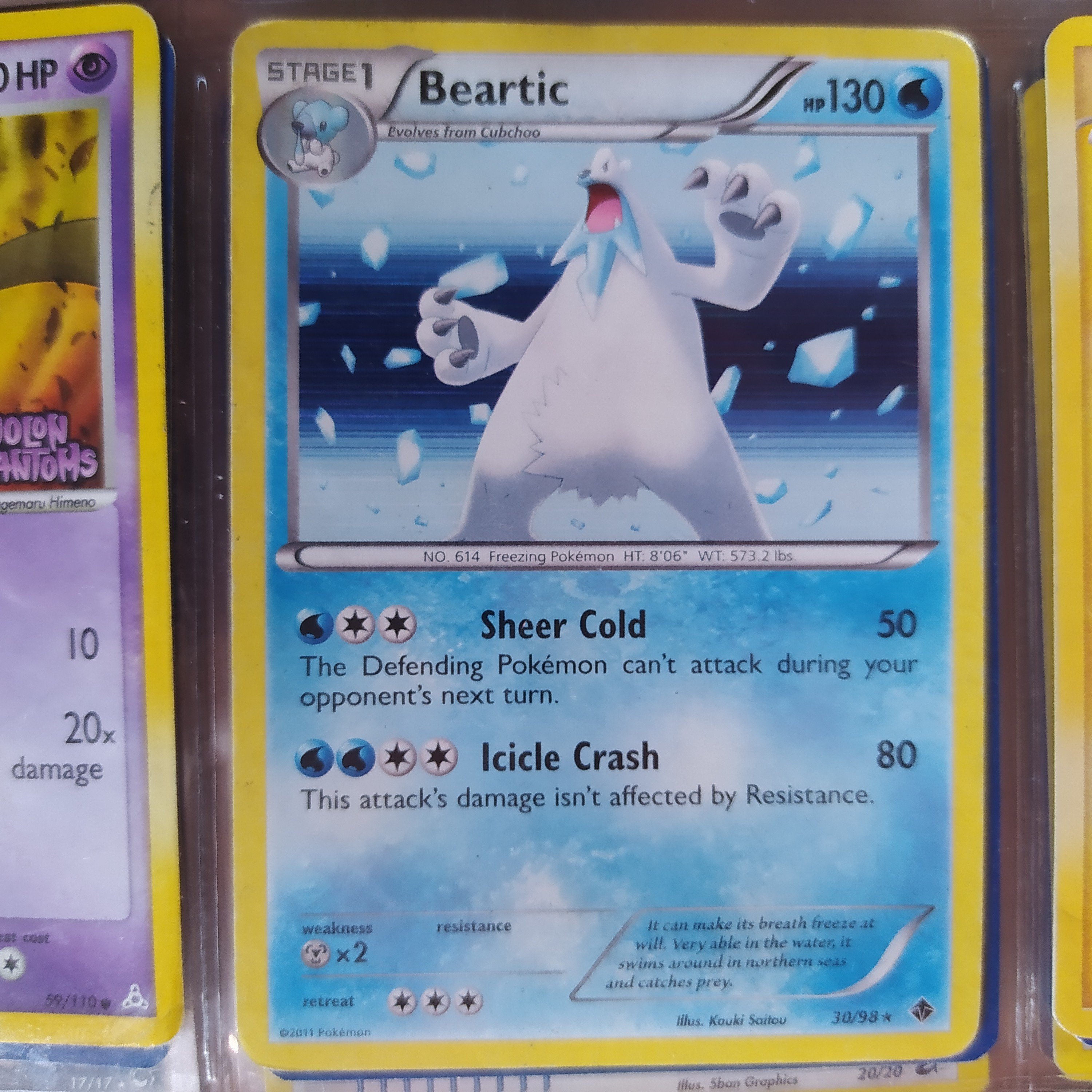 Product Image 1 - Beartic 30/98★ Rare Holo Emerging Powers