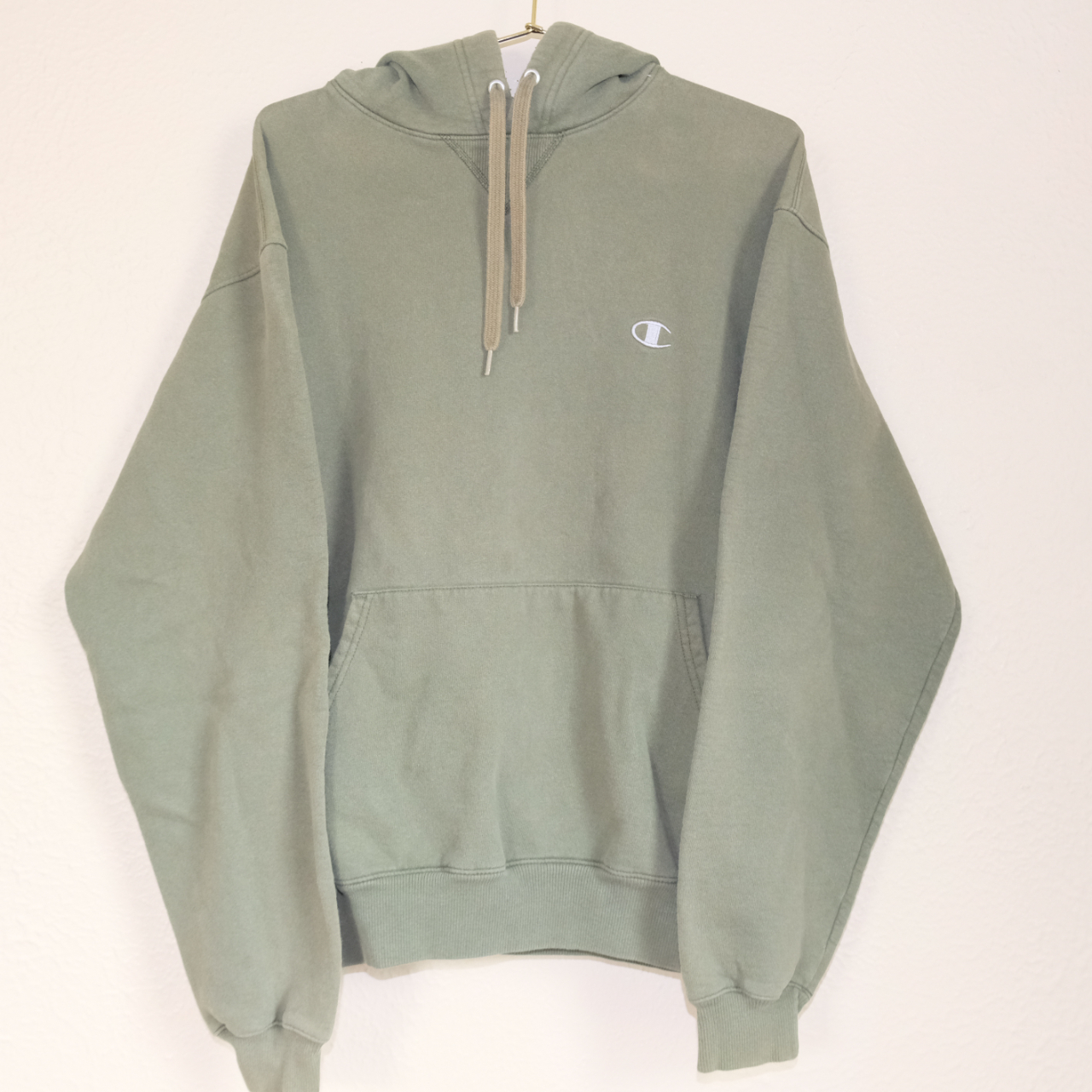 Product Image 1 - Pre-Loved Sage Green Champion Hoodie
