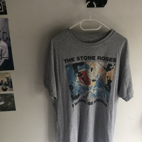 6b350fd31 Real nice vintage the stone roses t shirt / i wanna be and / - Depop