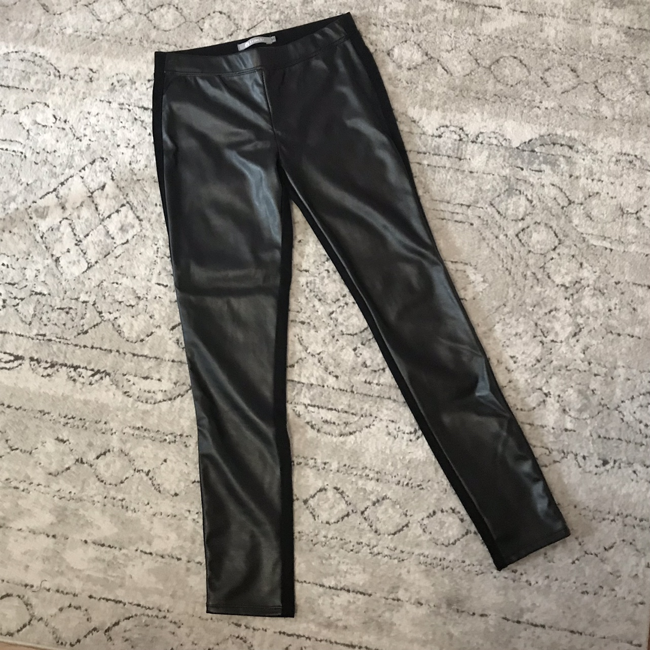 Product Image 1 - 90s LEATHER PANTS 🖤🤍  ♥︎ the