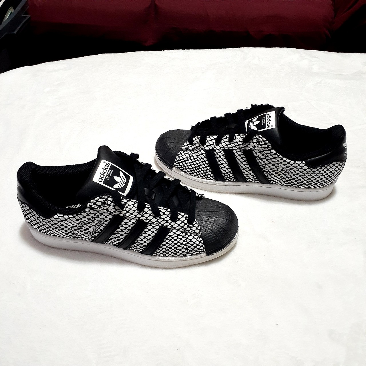 Product Image 1 - Adidas Superstar Black and White