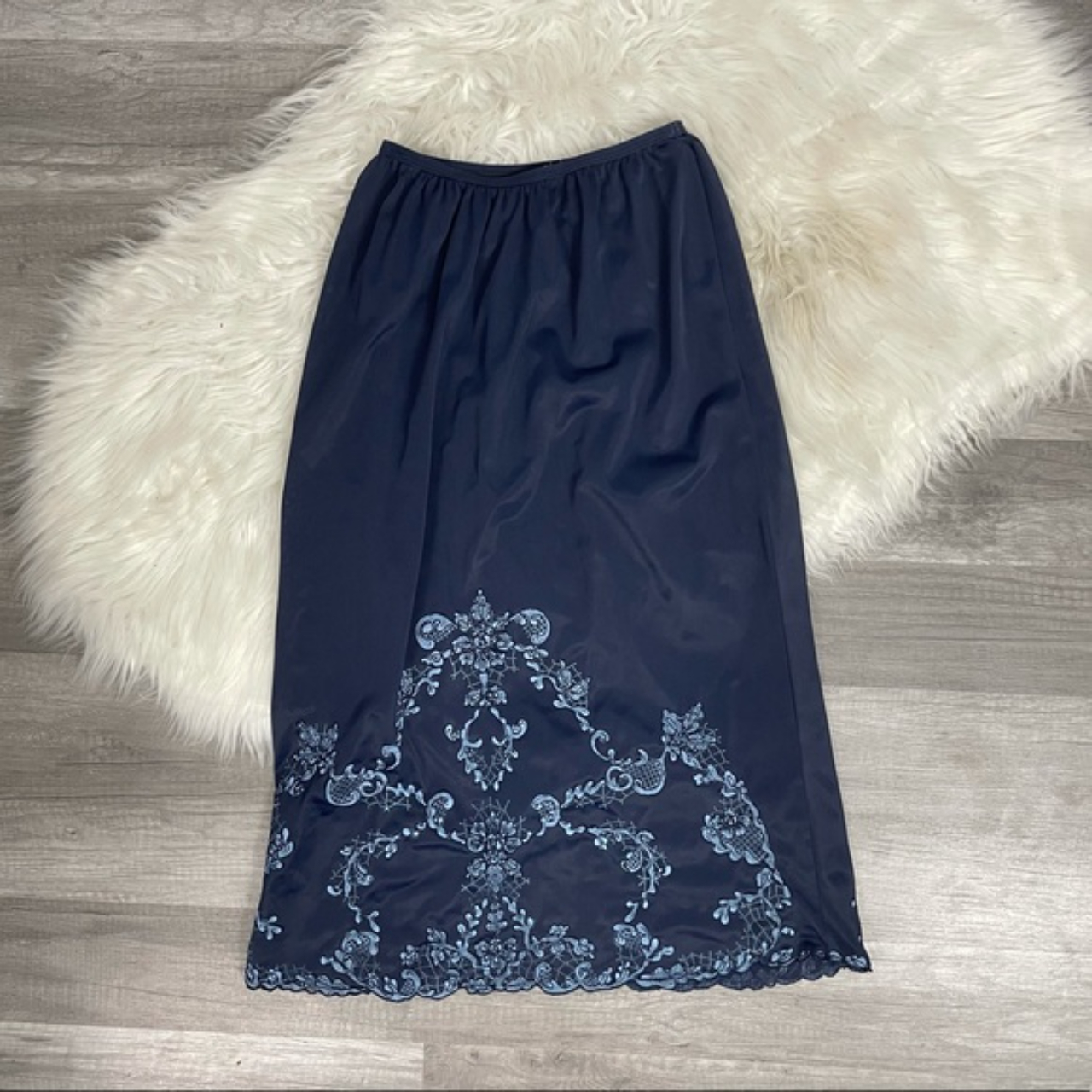 Product Image 1 - Vintage Blue Skirt Slip with
