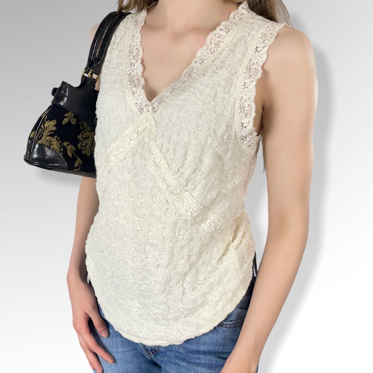 Product Image 1 - Y2K Lace Sleeves V-Neck Top,