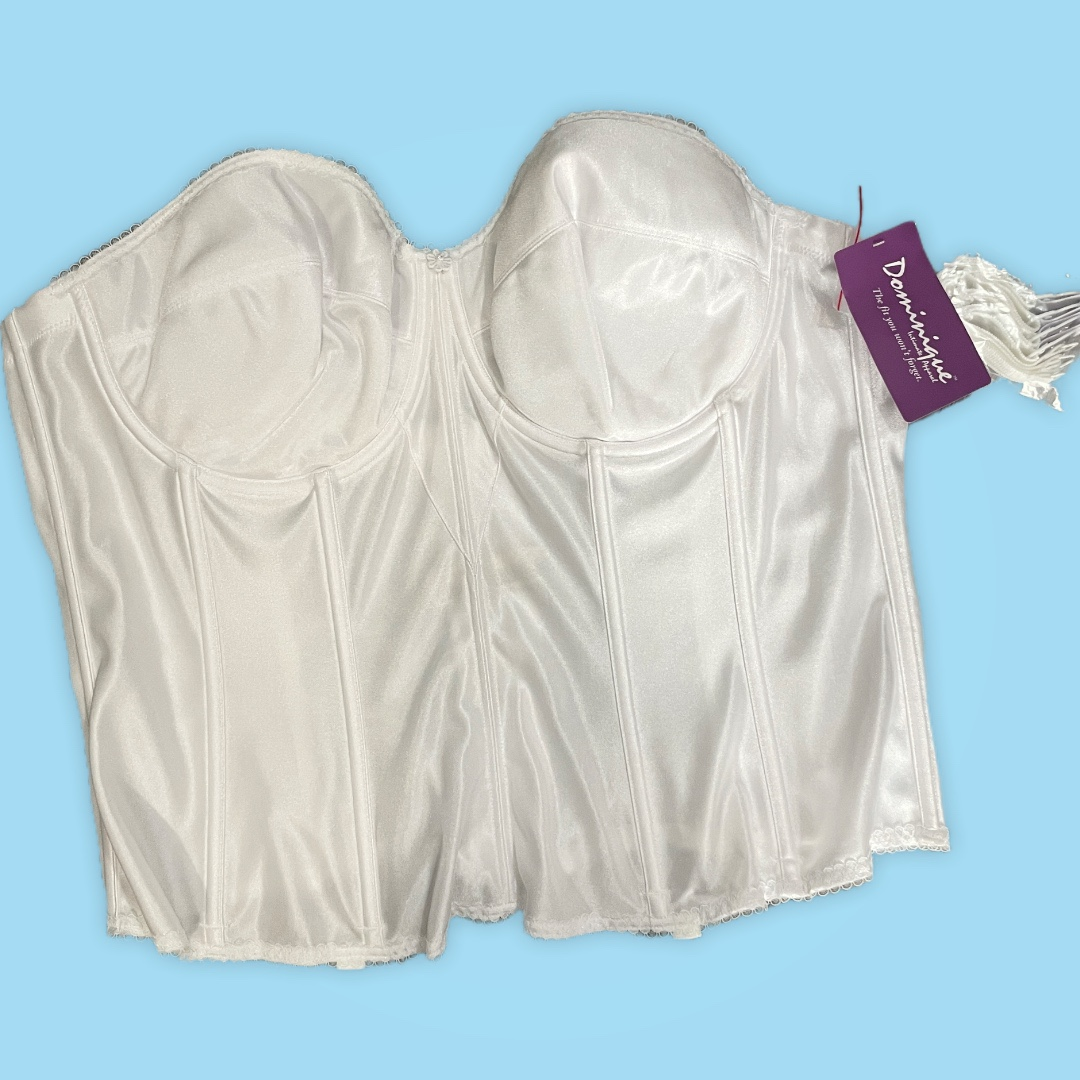 Product Image 1 - White Satin Corset with mesh
