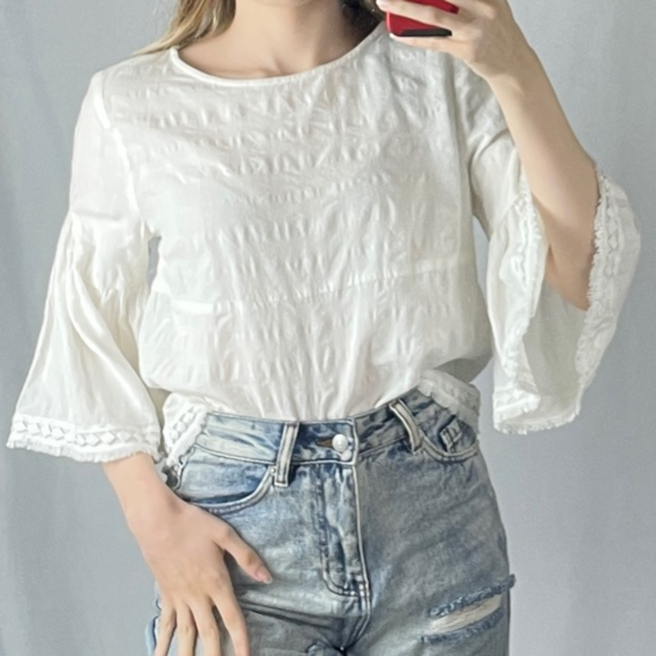 Product Image 1 - Dolan White Bell Sleeve Top,