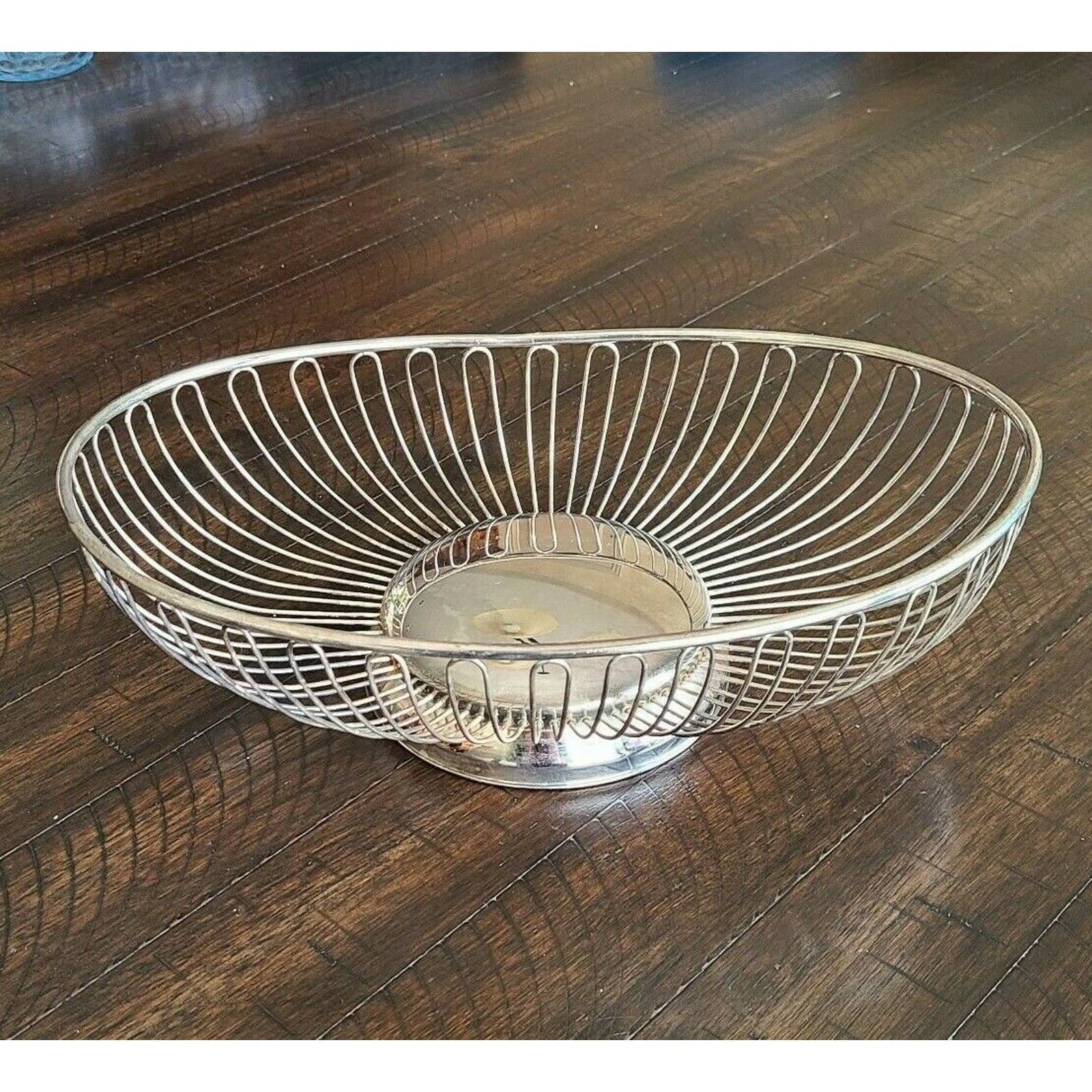 Product Image 1 - Vintage Silverplate Oblong Oval Wire