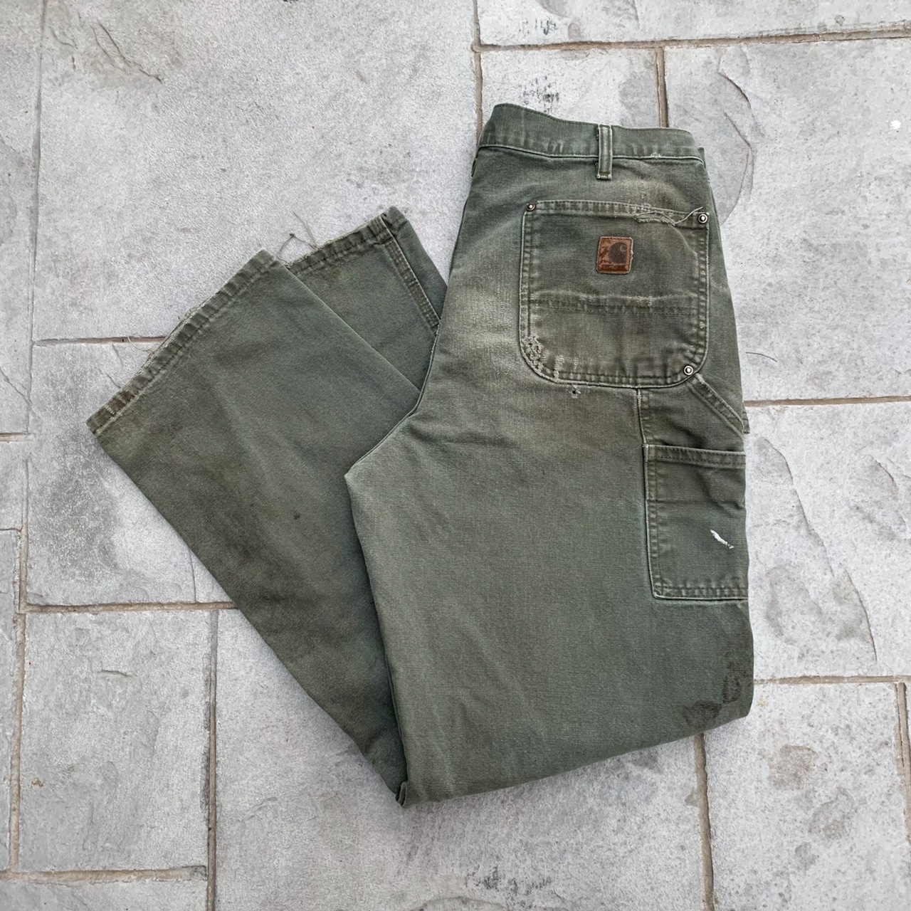 Product Image 1 - 🌲💚Vintage Distressed Carhartt Double Knee