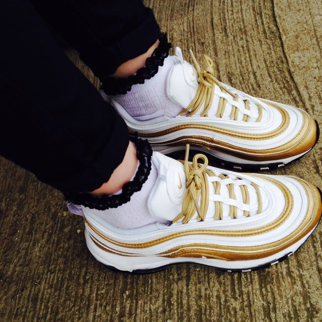 Air Max 97 Gold White