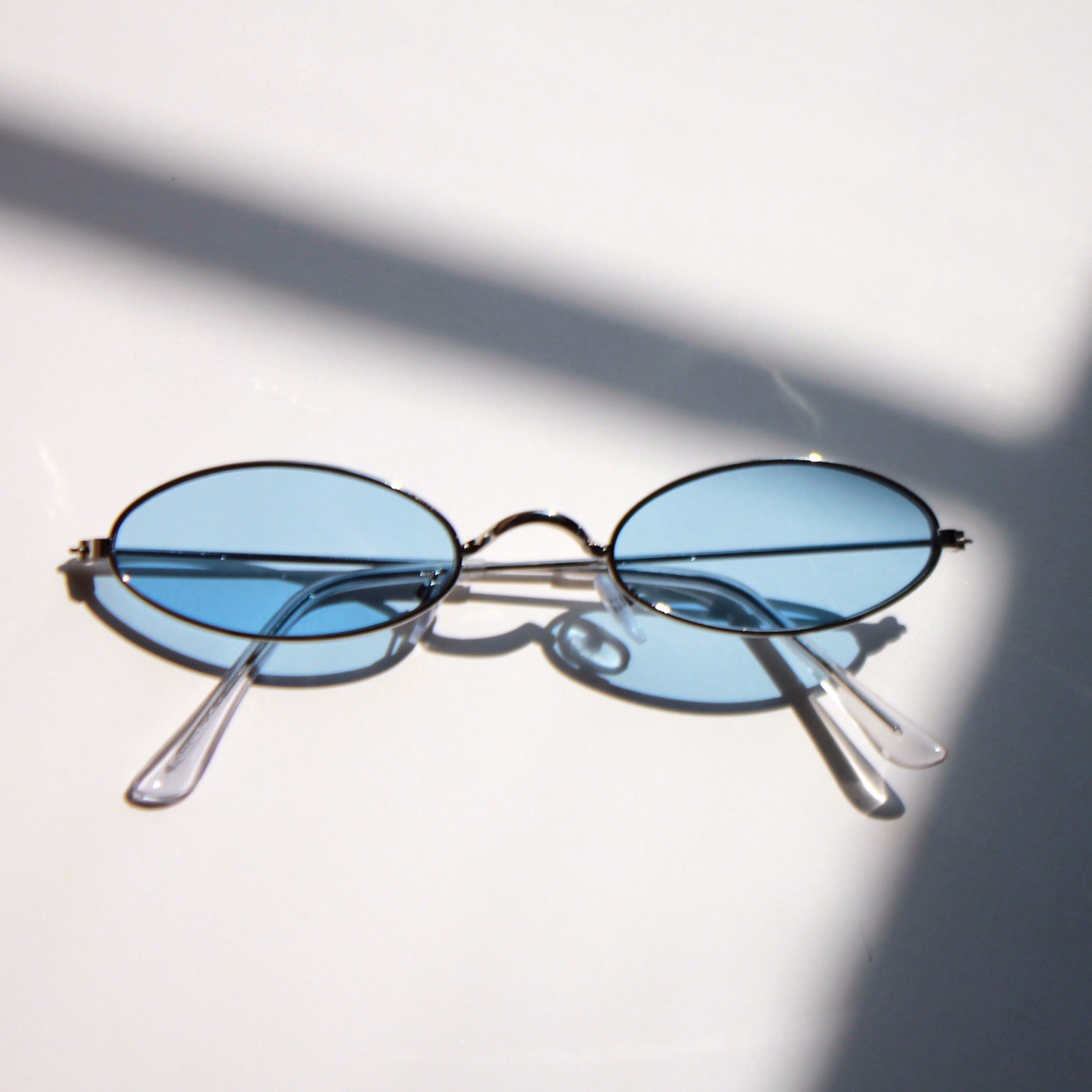 Product Image 1 - blue oval sunglasses - brand new!!  PM