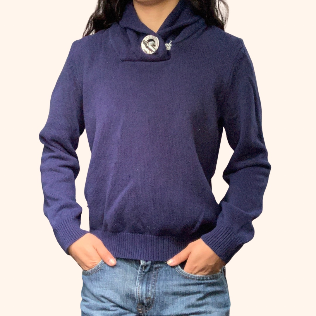 Product Image 1 - Vintage Navy Polo Sweater 🤍💙🪐  Super