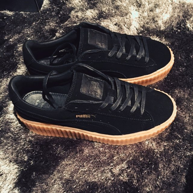 puma creepers black gentle. Black Bedroom Furniture Sets. Home Design Ideas