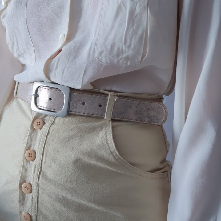 Product Image 1 - Silver synthetic belt with silver