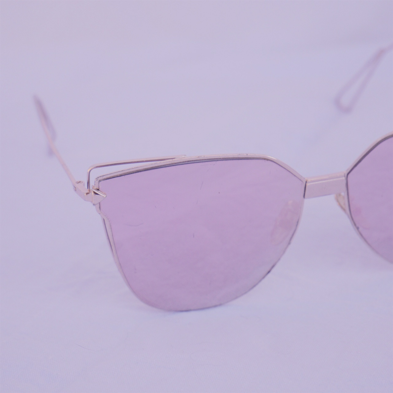 Product Image 1 - Pink metal mirror sunglasses Scratched lens  Free