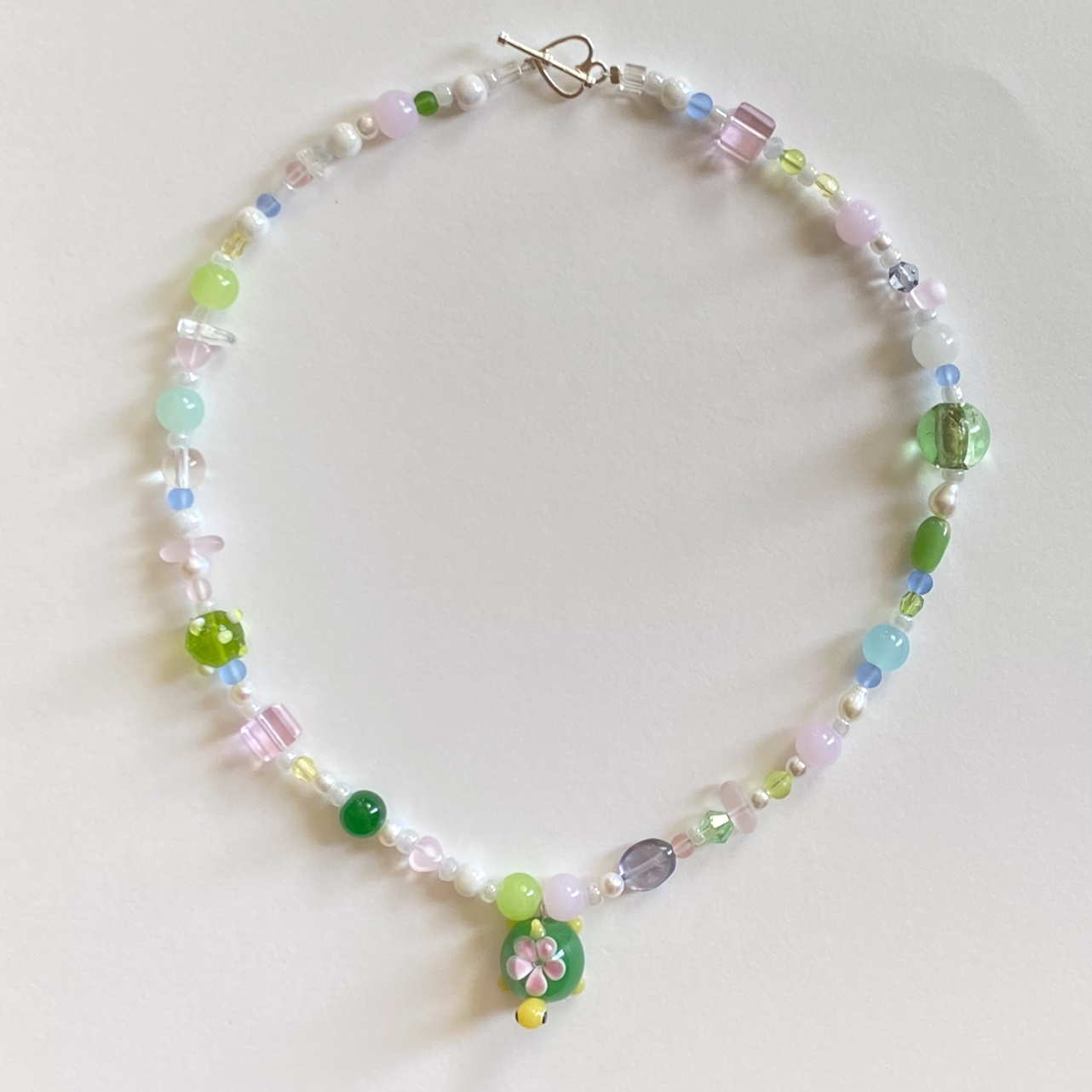 Product Image 1 - lampwork turtle beaded necklace 🌷🐢 ·