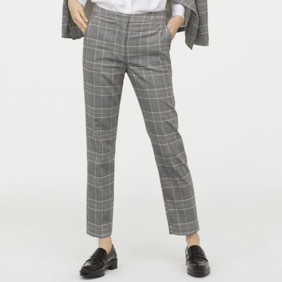 Product Image 1 - H&M MID RISE GREY TROUSERS