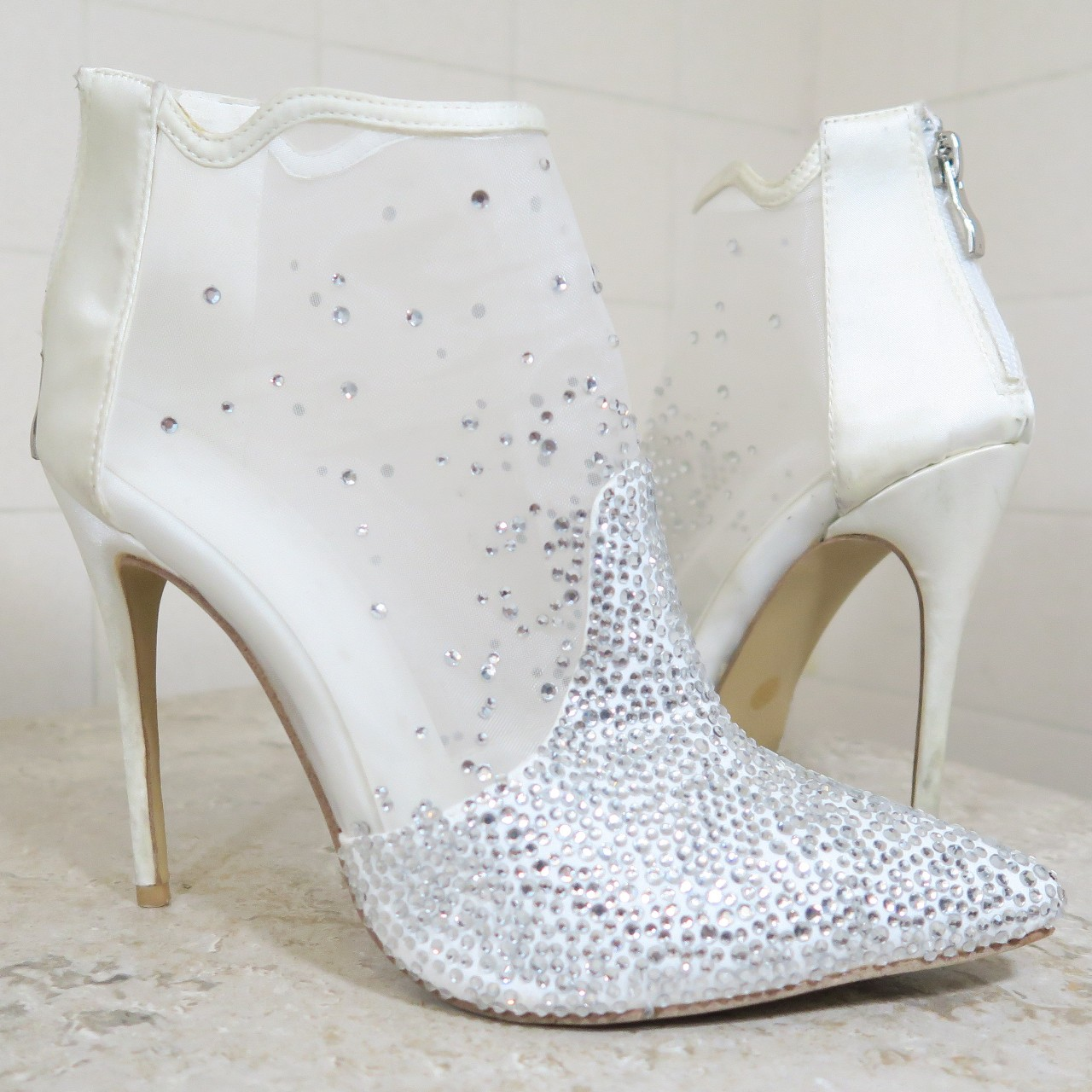 Product Image 1 - Mesh Ankle Boots.  White