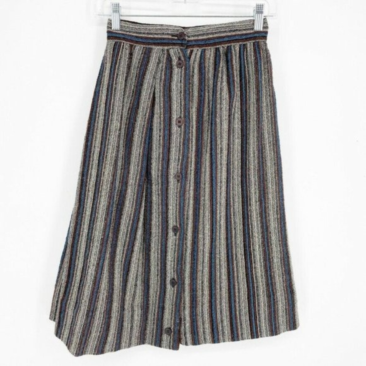 Product Image 1 - Striped Wool Vintage plaid Skirt Approximate