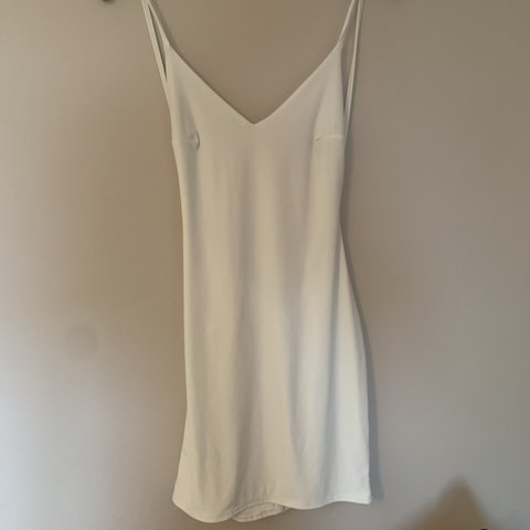 235d9fa6d @laurynsmith01. 12 hours ago. Ferndown, United Kingdom. White open back  ruched bum mini dress. Brand new with tags ...