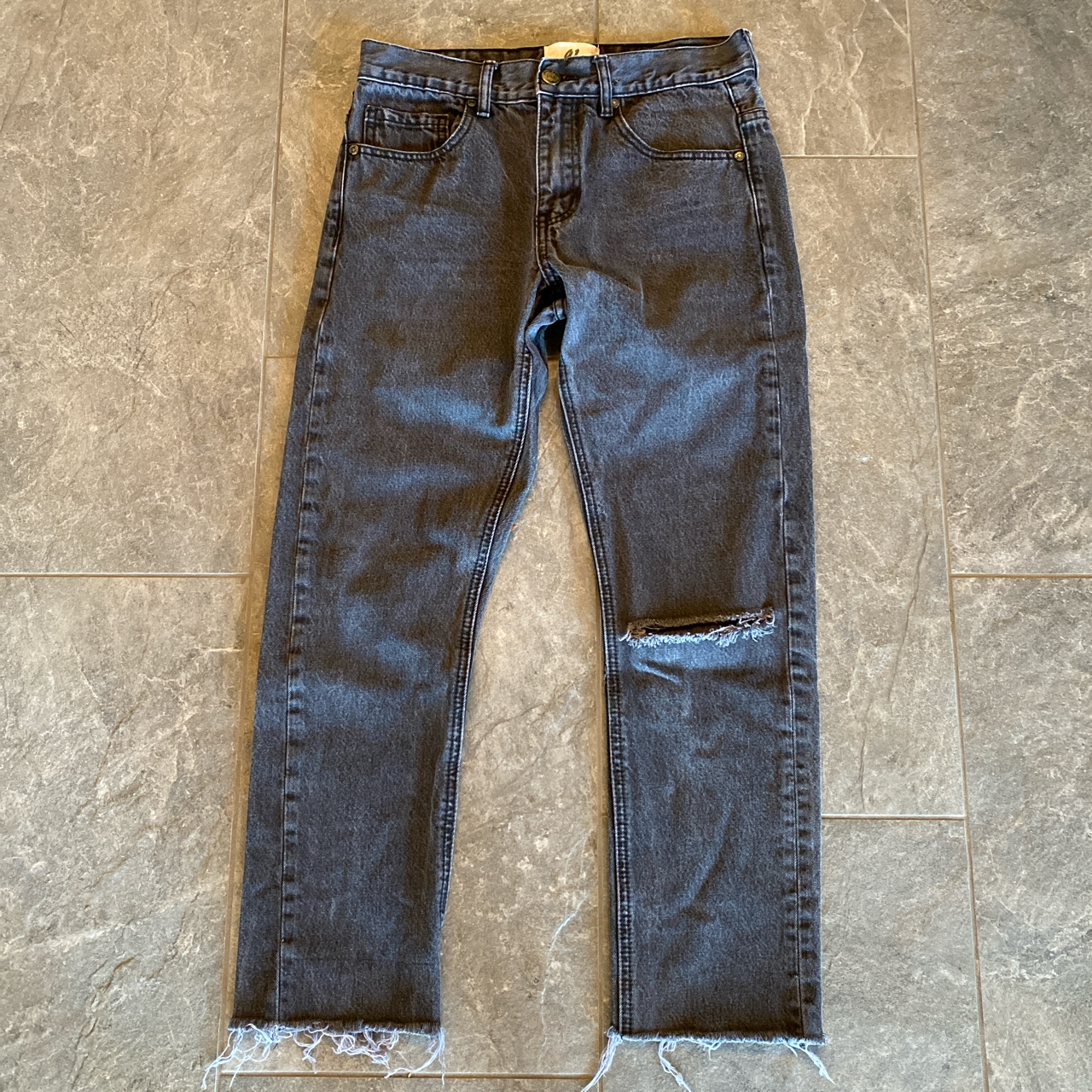 Product Image 1 - Black faded distressed skinny straight
