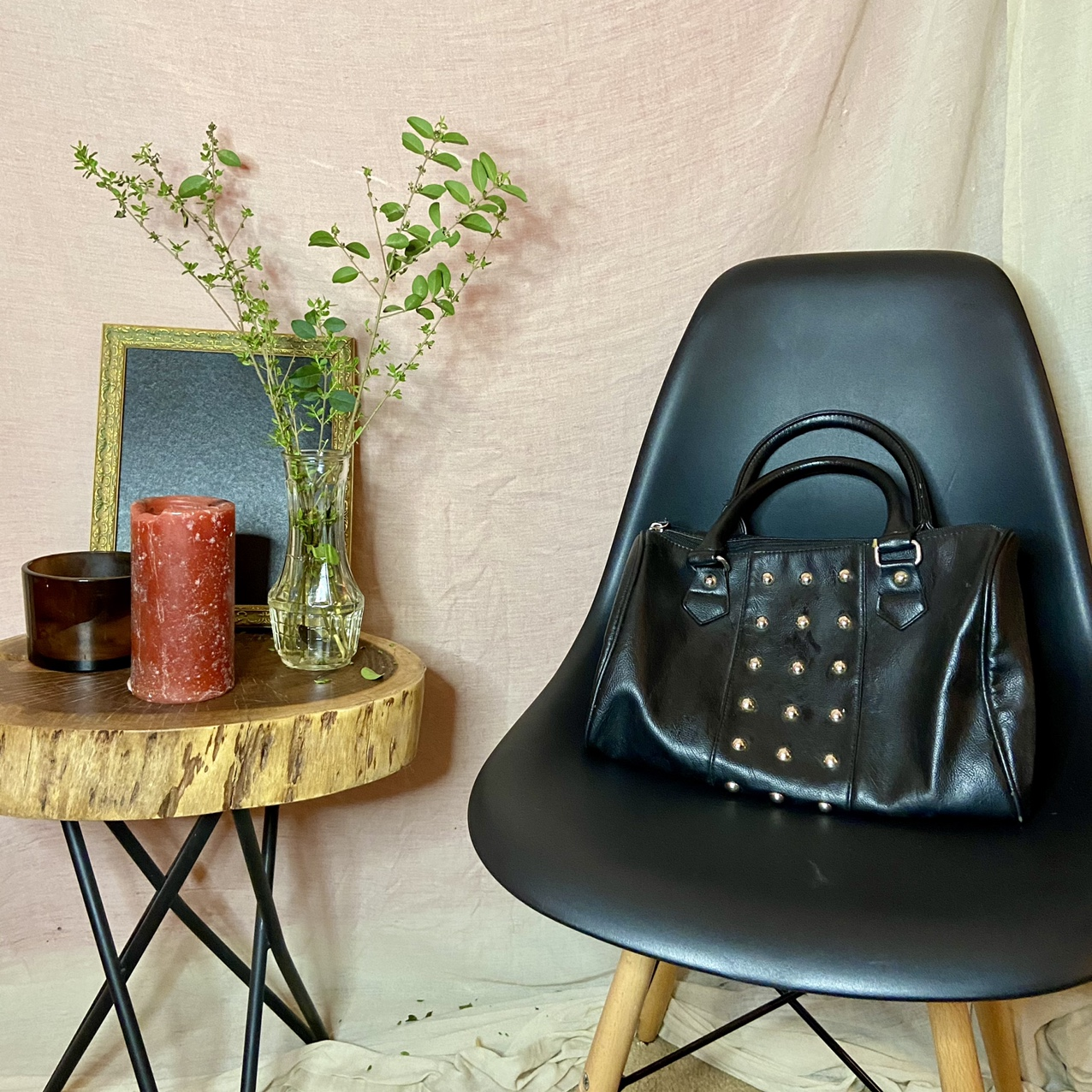 Product Image 1 - Black faux leather handbag with