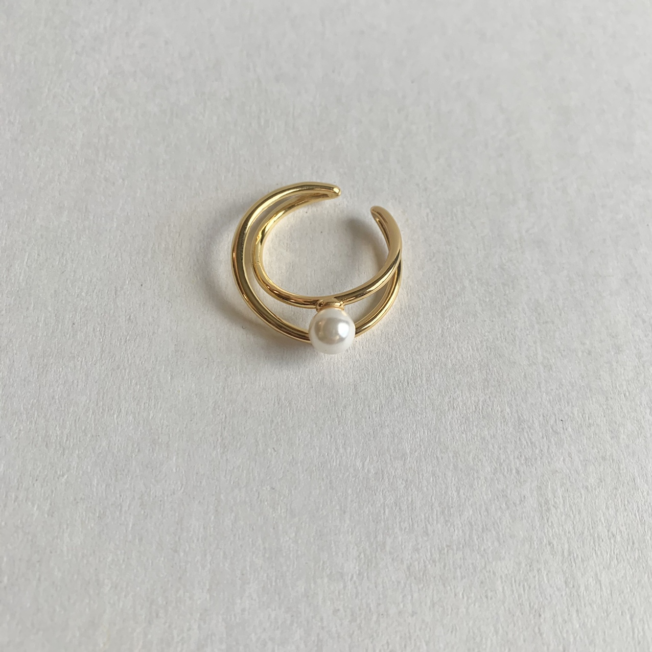 Product Image 1 - Minimalist ring pearl ring   A